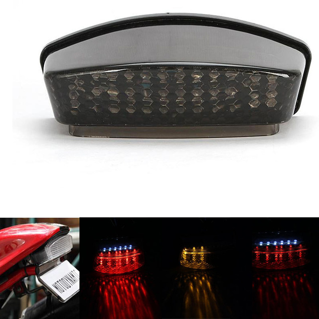 Motorcycle Integrated LED Tail Rear Light Running Brake Turn Signal Red Amber for 1994-2008 Ducati Monster motorcycle bike tail brake light turn signal running light smoke rear lamp for yamaha yzf r6 2006 2007 2008 2009 2010 2011