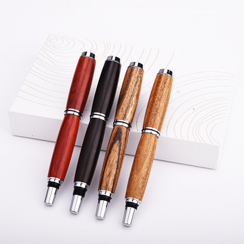 1pc High-end Wood Copper Fountain Pen 0.5mm Iraurita Nib Ink Pens Luxury Business Gift Office Writing Pens Stationery