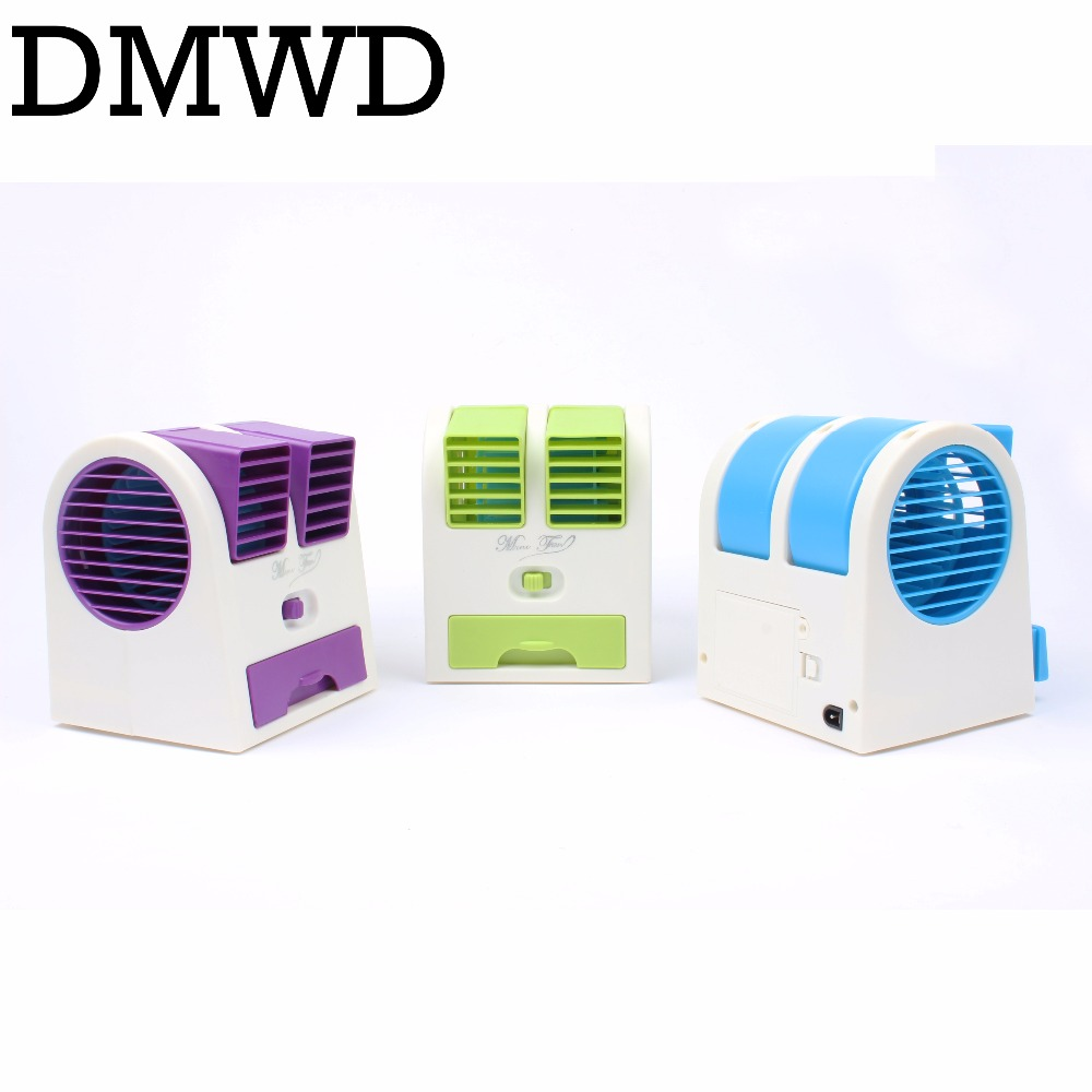 цены DMWD MINI Cooling Fan Portable Desktop USB small Air Conditioner fans Cooling Desk Conditioning cooler summer Ventilador gift