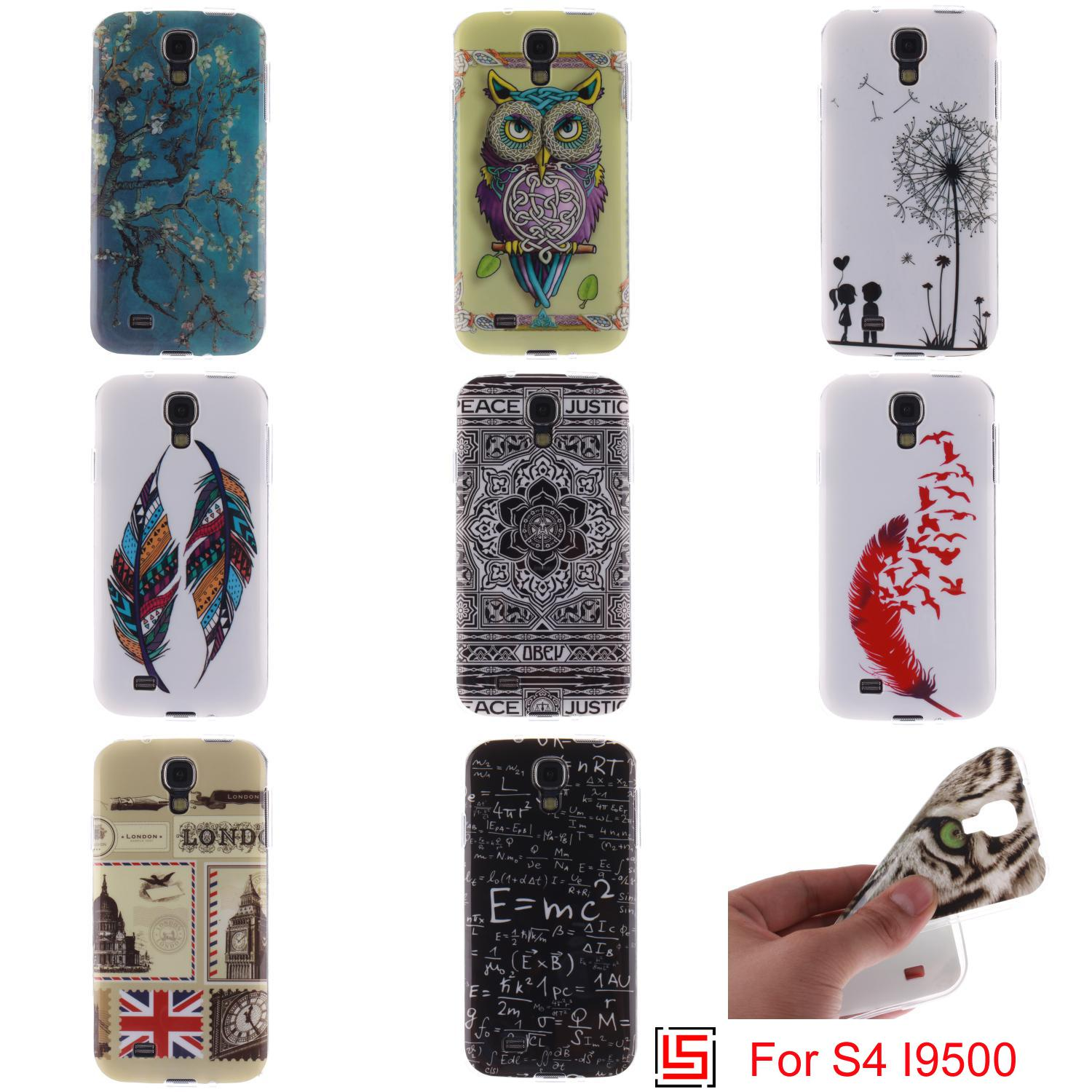 Ultra Thin TPU Silicone Soft Phone Case capinha Cover Bag For Samsung Samsuns Sumsung Samsug Galaxy S4 GT I9500 I9505 Tiger