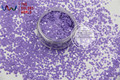 TCH308  2.0 MM Size   Solvent Resistant  Mate Colors circle dots hape glitter  for nail polish,nail art  or other DIY decoration