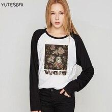 Звездные войны, футболки с длинными рукавами, дартворк йода Дарт Вейдер, Женская Модная хлопковая футболка, осенняя и зимняя новая одежда для женщин