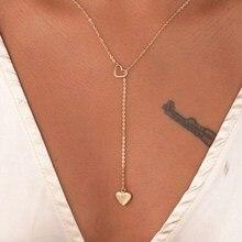Trendy Simple Heart Pendant Gold Silver Color Popular Cute Romantic Ti