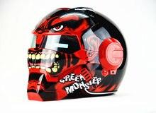 Free shipping Top ABS Moto biker Helmet MASEI Iron Man personality special fashion half  open face  motocross helmet RED