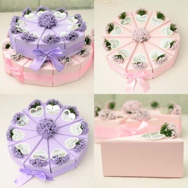 50 st cke 5 kuchen rosa lila lavendel hochzeit gef lligkeiten dreieckige kuchen zucker. Black Bedroom Furniture Sets. Home Design Ideas