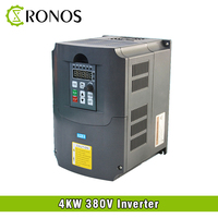 Spindle Motor Speed Control 380V 4KW VFD Variable Frequency Drive VFD 3HP Frequency Inverter For Motor