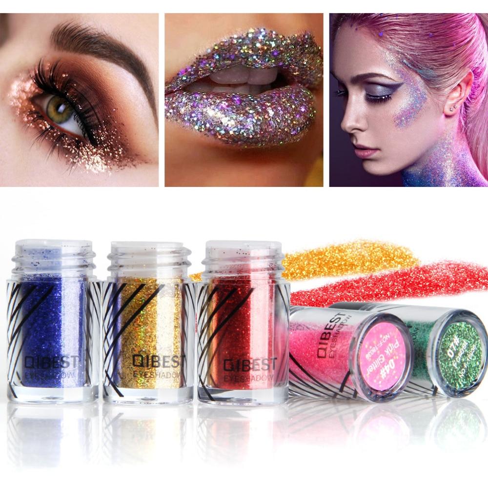 Faithful Qibest 1pc 20colors Shimmer Eye Shadow Monochrome Sequins Mermaid Jelly Body Glitter Powder Eye Makeup Tslm2 Beauty & Health