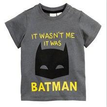 Детская футболка с изображением Бэтмена хлопковая футболка с короткими рукавами для мальчиков футболка с принтом из комиксов для мальчиков модная детская футболка верхняя одежда для мальчиков
