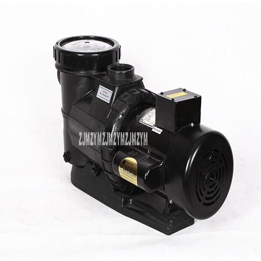 1.5HP (1.1KW) Swimming Pool Pump High Quality Filter Pump Mute Hot Tub Pump Electric Massage Circulating Pressure Pump 220V