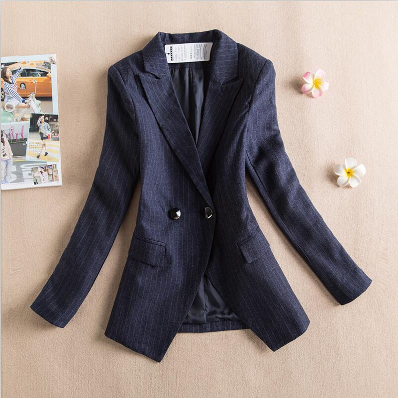 Long Sleeve Suit Women Blazer 2019 New Fashion Blazers Women Jackets And Coats Short Slim Spring And Autumn Female Suits(China)