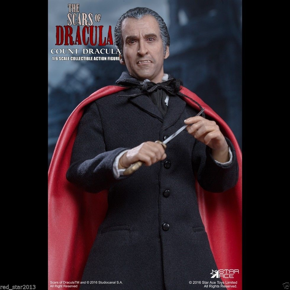 1/6 Vampire The Scars of Dracula Christopher Lee Colletible Action Figure фигурка planet of the apes action figure classic gorilla soldier 2 pack 18 см
