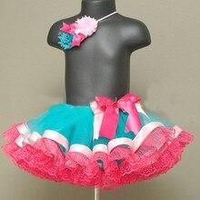 Hot Retail Baby Girls Lace Bottom CakeTutu Skirt Infant 3Layer Chiffon Ballet Dance Pettiskirt with Ribbon Bow Kids Party Tutus
