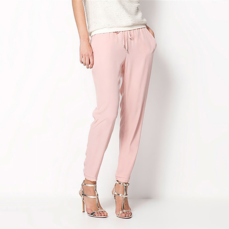 New Summer Women Chiffon Pant Casual Harem Pants Women Trousers Pantalones Elastic Waist Loose Drawstring Female