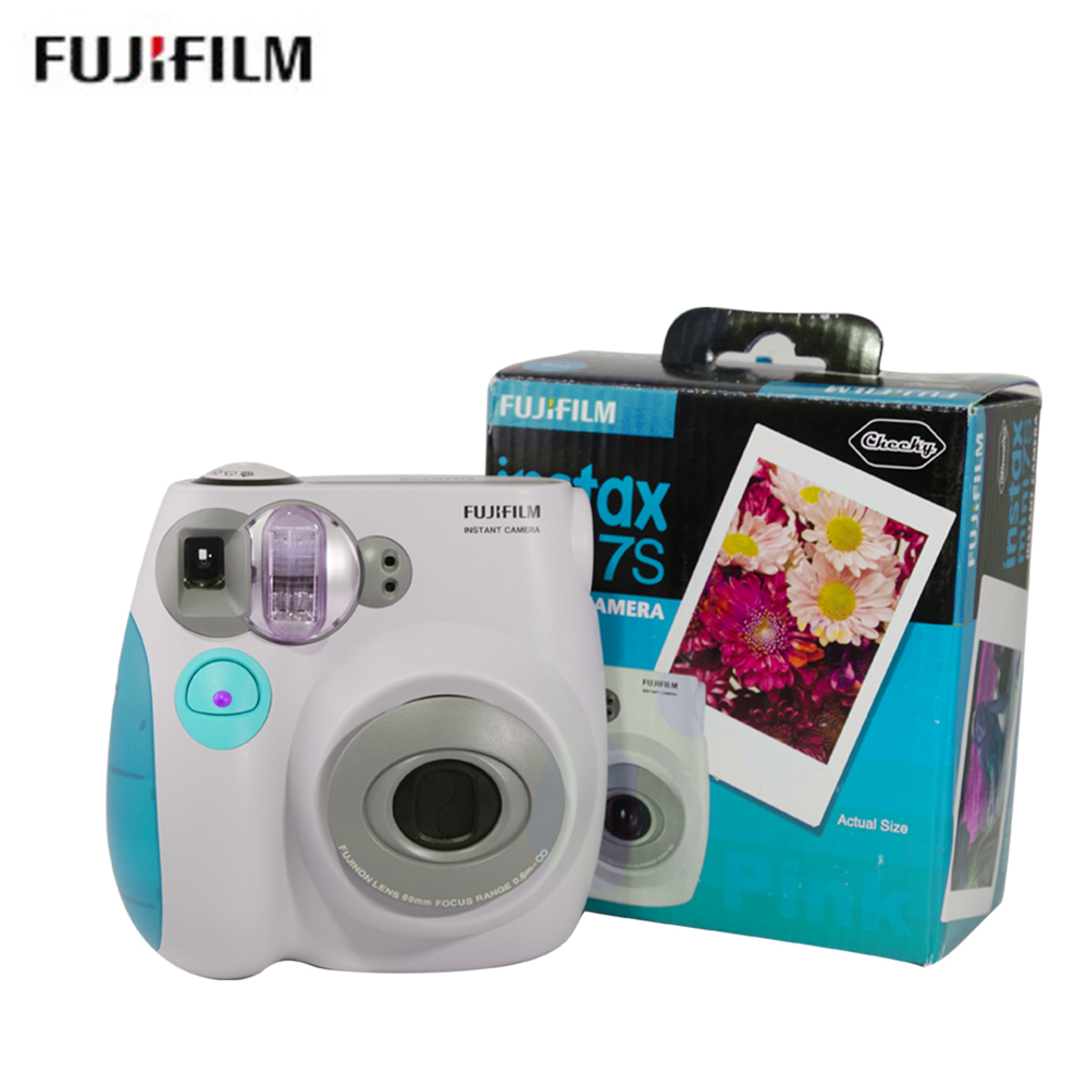 original Fujifilm Instax Mini 7s Instant Film Photo Camera Blue and Pink Free Shipping
