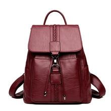 LANYI, Mochila de cuero de alta calidad para mujer, mochilas escolares de moda para chicas adolescentes, gran capacidad, mochilas informales para mujeres, Mochila