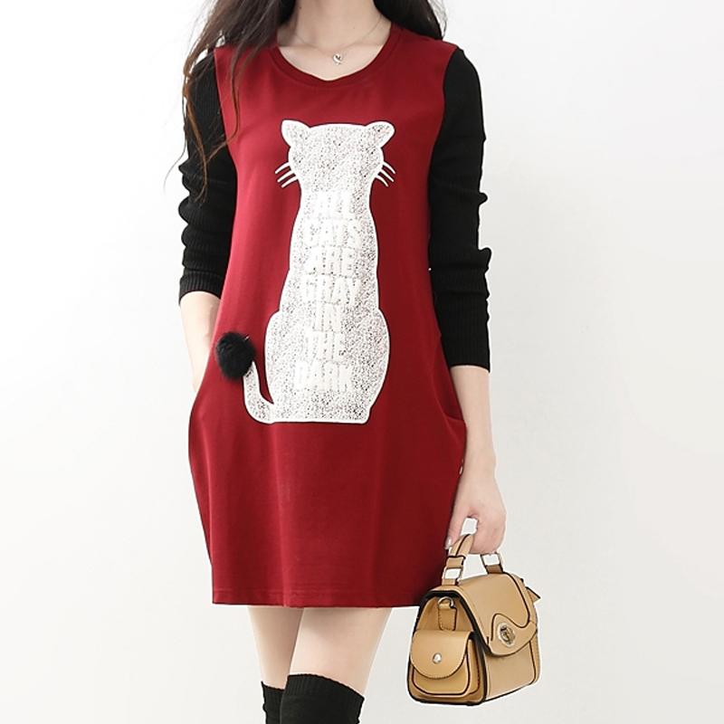 invierno de maternidad las mujeres embarazadas que amamantan enfermera dress ropa velet negro rojo caliente vestidos