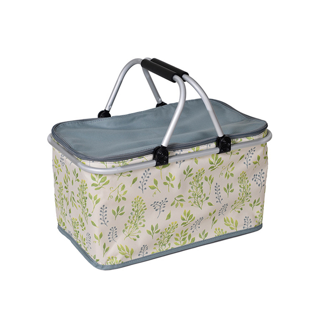 Folding Large Soft Cooler Bag Insulated Picnic Box Bag Picnic Cooler Tote Thermal Bags for Camping Family