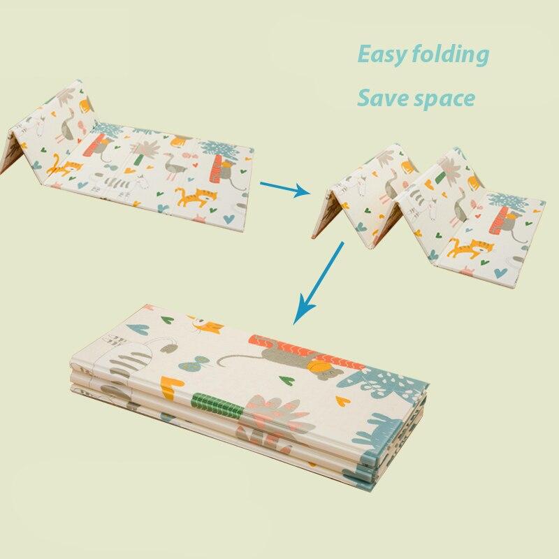 Infantile Brillant 200*180*1 cm Pliable Bébé Tapis de Jeu Écologique XPE Enfants Playat Cartton Non-slip tapis Salon Tapis - 4