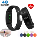 Bluetooth monitor de freqüência cardíaca pulseira smartband id107 academia flex pulseira para ios android pk xiomi mi banda 2 fitbits cicret