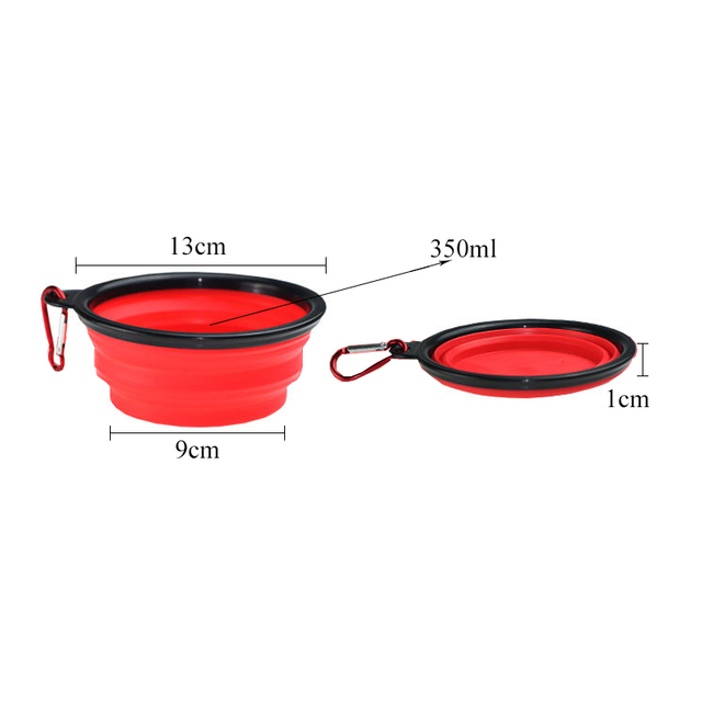 Collapsible Silicone Pets Food/Water Bowl