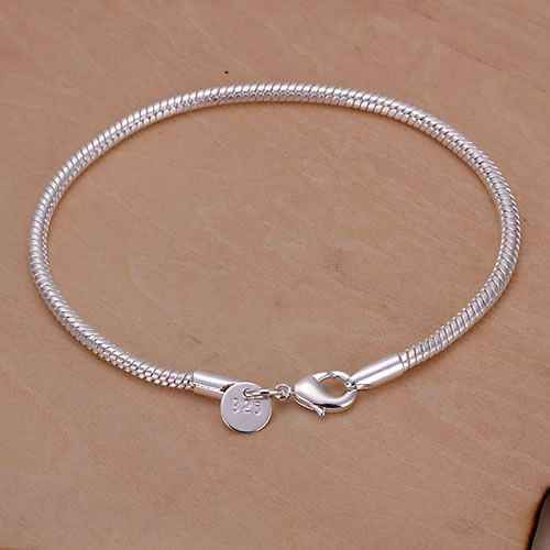 Miễn phí vận chuyển 925 trang sức mạ bạc trang sức vòng tay thời trang tinh tế Vòng Tay Chất lượng hàng đầu bán buôn bán lẻ SMTH187