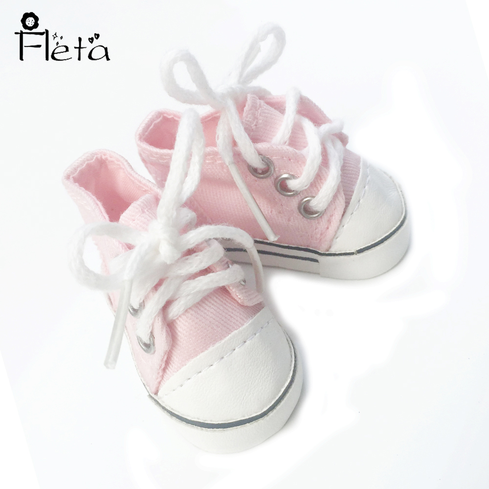 American girl Pink Canvas shoes 14.5 wellie wishers doll accessories the best gift b320