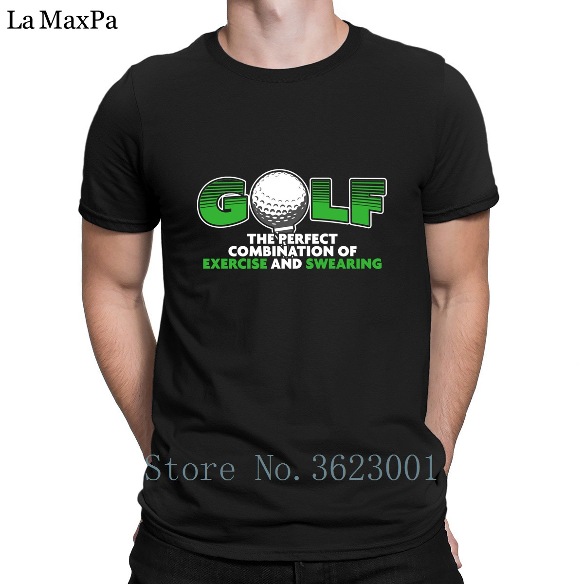 Design Nice T-Shirt Golfs The Perfect Combination Of Exercise And Swearing T Shirt For Men Costume Tshirt S-3xl Fitted Letter