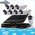 10 Polegada Displayer 8CH 720 P NVR Sistema de CCTV Sem Fio Sem Fio Câmera IP IR-CUT Bala CCTV Sistema de Segurança Home CCTV Kits hiseeu
