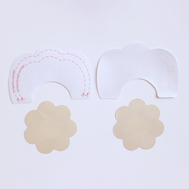 3 Style Invisible Strapless Backless Bra Pad Cleavage Enhance Stick Nipple Cover Disposable Breast Petals Lift 4