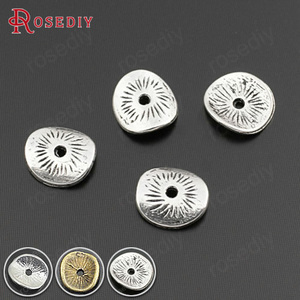(28670)100PCS 9x8MM Antique Style Zinc Alloy Round or curved brushed disks Diy Jewelry Findings Accessories Wholesale