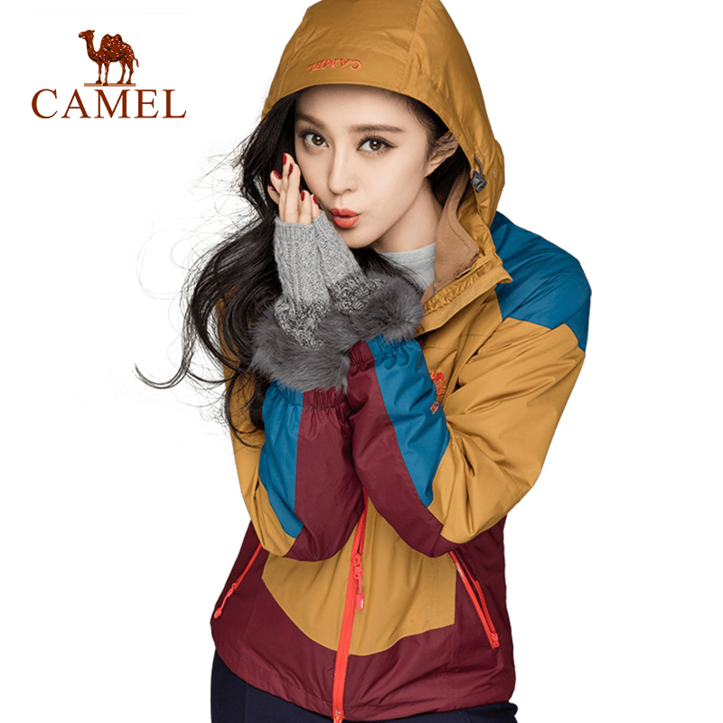 CAMEL Women's 3 in 1 Outdoor Jacket Waterproof Windbreaker Breathable Sports Camping Climbing Hiking Female Tracksuit original german ebmpapst 4294 h 24v 5 3w 12cm 120 120 38mm double ball bearing cooling fan