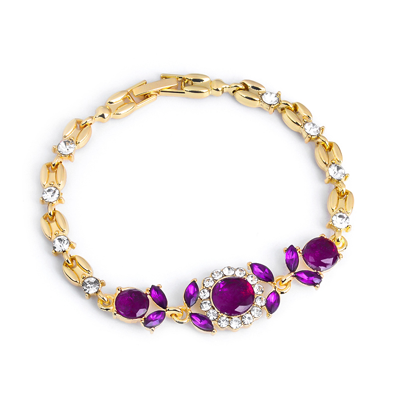 Atreus Jewelry Gift 2 Colors Gold Color Classic Australia Crystal/Rhinestone Cuff Chain infinity Bracelet For Women Girl
