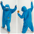 Free Shipping Fashion Adult Animal Cosplay Costume Pajamas Onesies One Piece Pyjamas for Women Men Sesame Street Blue