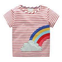 263da597c3 Toddler Infant Baby Kids Girls Rainbow unicorn t shirt for girls Print Stripe  T-Shirt Blouse Clothes JAN3
