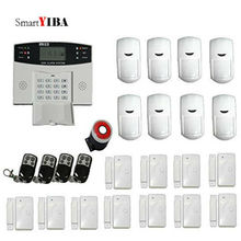 SmartYIBA Wired Wireless SMS GSM Alarm System LCD Display Home Security Alarm System Russian Italian Spanish French Voice