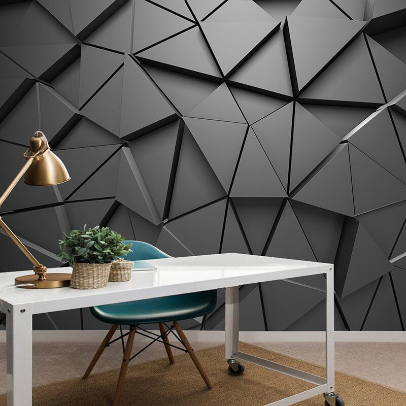 Custom Mural Wallpaper 3D Stereo Geometric Triangle Art Wall Painting Living Room Bedroom TV Background Wall Papers Home Decor