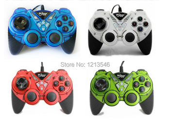 New Arrival Colorful PC Wired USB GamePad Double Shock Game pad Joystick Joypad Controller For Computer Laptop 3 pcs wired usb joystick usb pc gamepad gaming controller game joypad for pc computer laptop gift free shipping