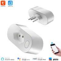 Brazil Standard Smart Socket WiFi Type N Socket 16A Power monitoring Smart Life APP Control Voice Control via Alexa Google Home.