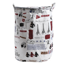 Large Cartoon Pattern Cotton  Laundry Basket Foldable Dirty Clothes Storage Hamper Sundries Bag Baby Kids Toys Barrel Containers