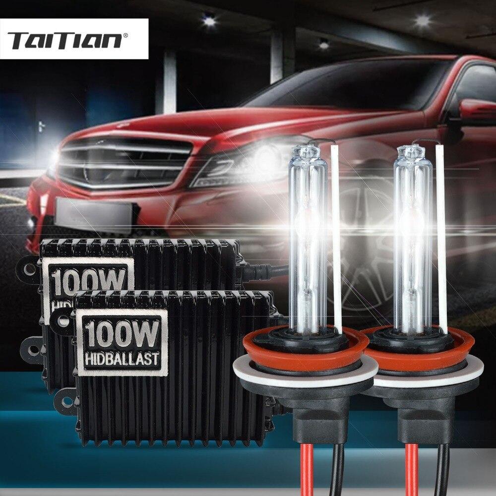 Taitian 2Pcs H11 100W Hid Xenon ballast+55W Xenon Light 12V 3000K xenon h7 h8 bulb yellow h1 bulb H3 Car light 9005 9006 hb4 цена
