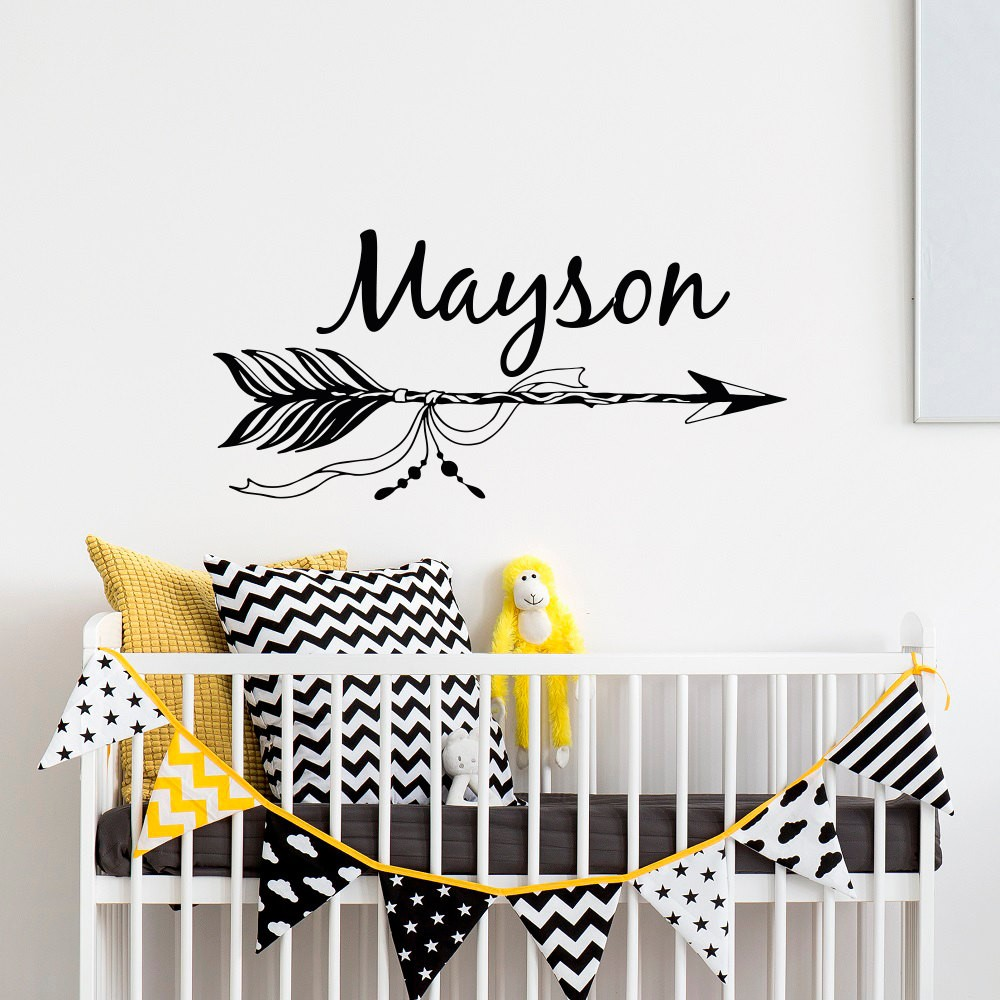 Unique New Personalized Name Art Design Arrows With Custom Wall Decal Kids Bedroom Decor Nursery Room Vinyl Sticker In Stickers From Home