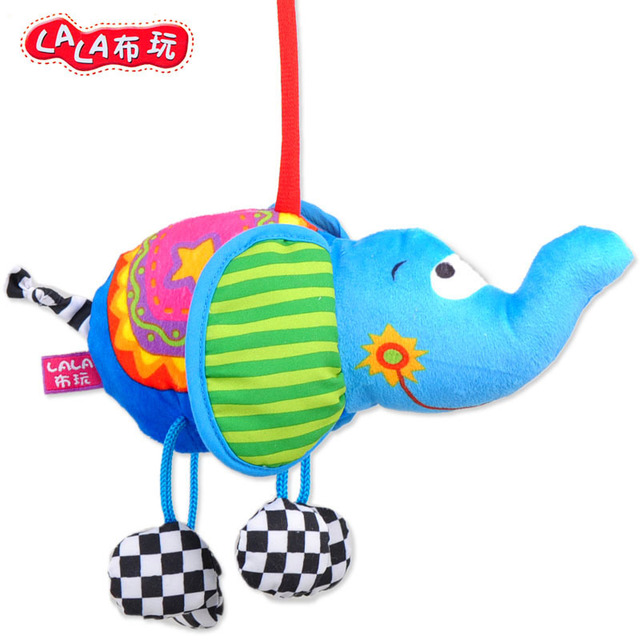 Lalababy book cloth rattles toy baby bed hanging car hanging baby toy 13