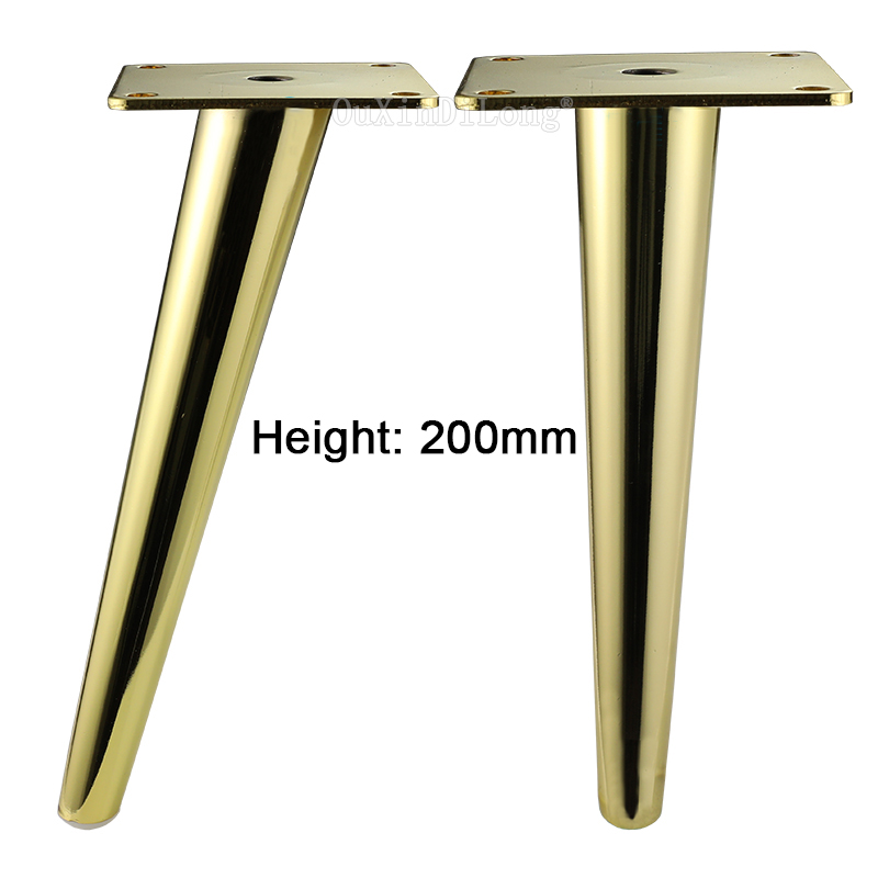 4pcs Gold Metal Legs For Furniture Table Sofa Cabinet
