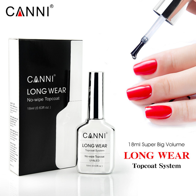 CANNI New 18ml Long Wear Topcoat No-wipe Non-cleansing Diamond Super Bright Glossing Top Coat Updated than Tempered Topcoat 1