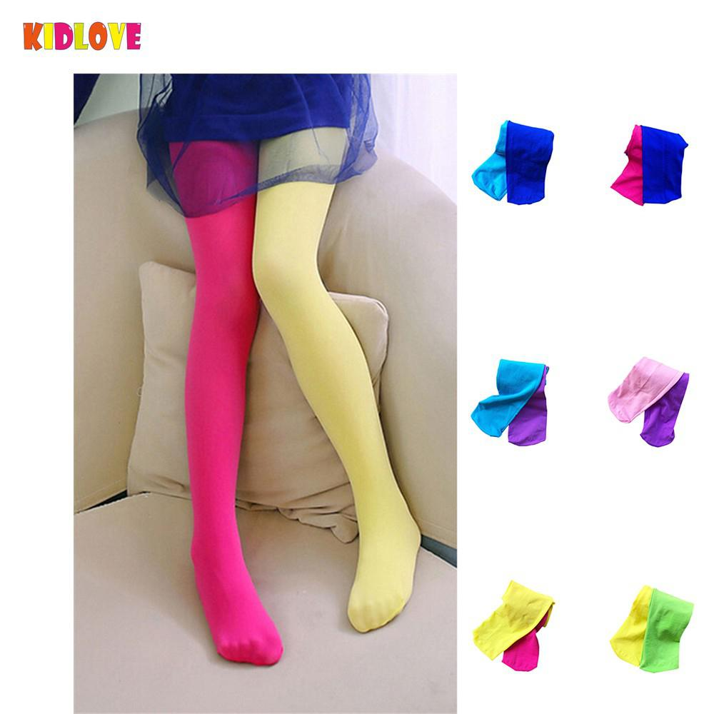 Kidlove Spring/Summer/Autumn Candy Color Children Baby Girls Cute Velvet Pantyhose Tights Stockings For Girls Dance Tights candy color mixed girls velvet tights patchwork baby girl stretch trouser skinny pants kids dance tights pantyhose stocking 3 9y
