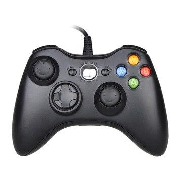 Czarny/biały USB przewodowy Gamepad dla Xbox 360 Joystick dla oficjalnego Microsoft gra komputerowa kontroler dla Windows 7 / 8 / 10