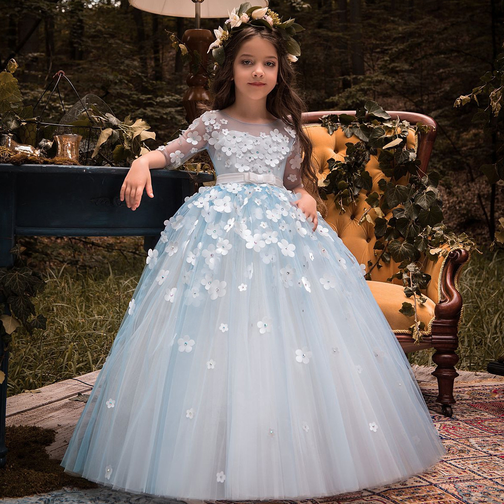 Flower Girl Dress 2018 Little Princess for Wedding Kids Party Wear ...