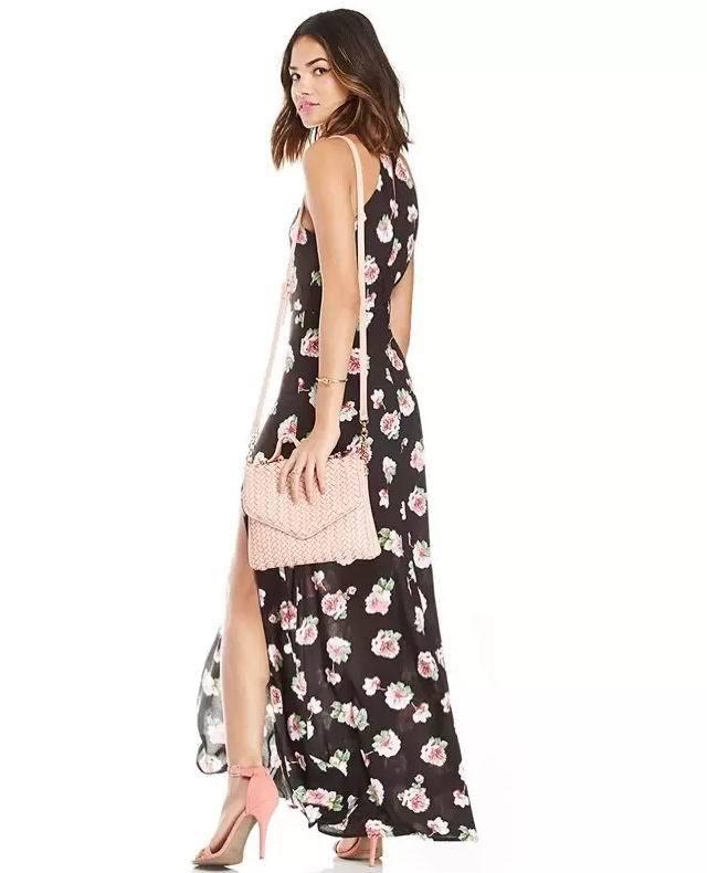 flores estampado Un Vestidos 5qcarjl43 de negras vestidoPopular largos con VpGSUzqM