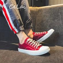 CeLai erkek ayakkabısı 2020 yeni yeşil dantel up kanvas ayakkabılar erkek bahar ve yaz rahat ayakkabılar adam öğrenci erkek sneakers krasovki A 011