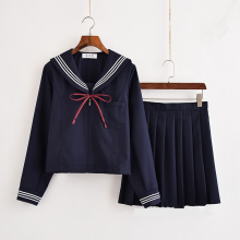 Girls Japanese School Uniform Japan Navy Sailor Graduation Clothing Shirt Skirt Students Sets